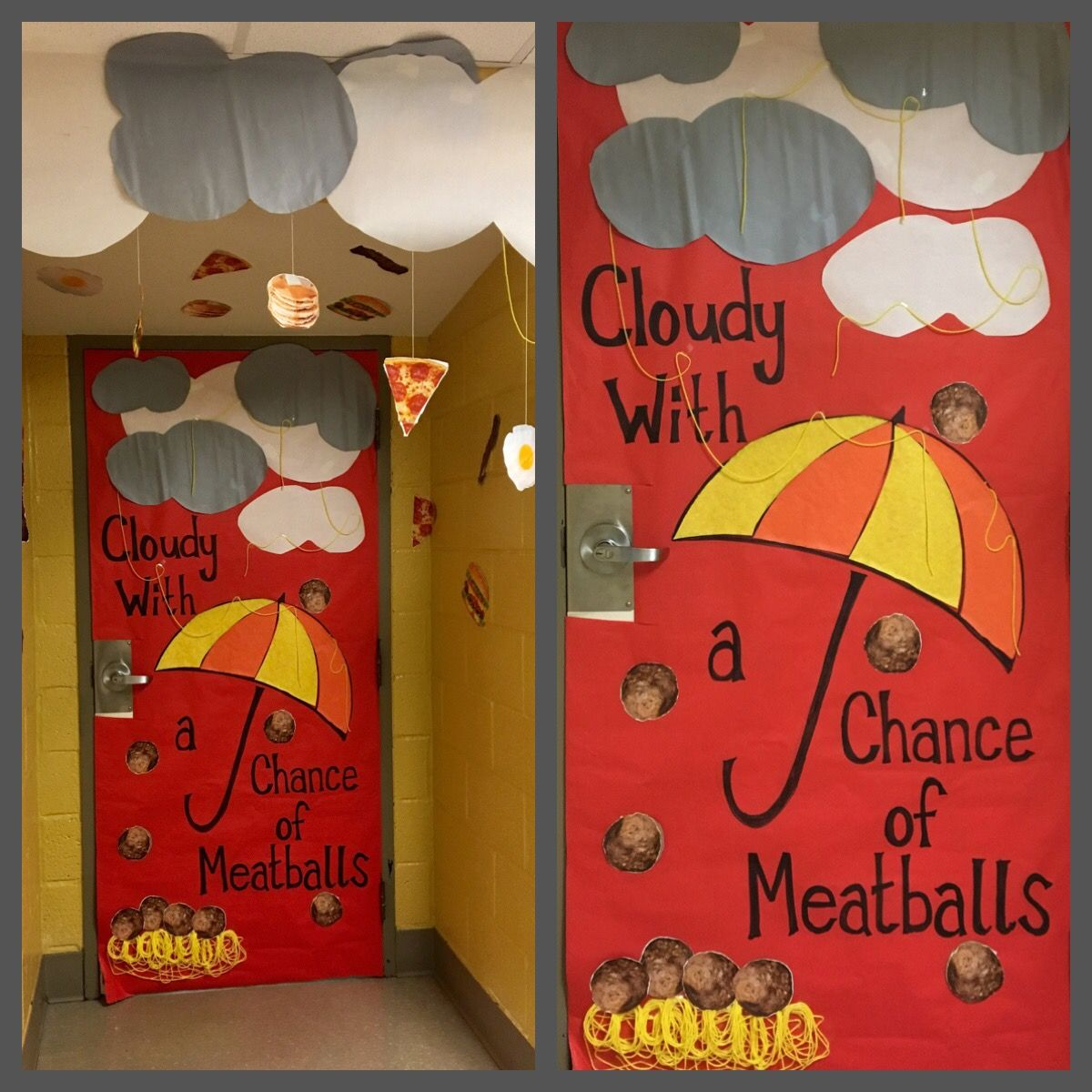 Cloudy With A Chance Of Meatballs Classroom Door