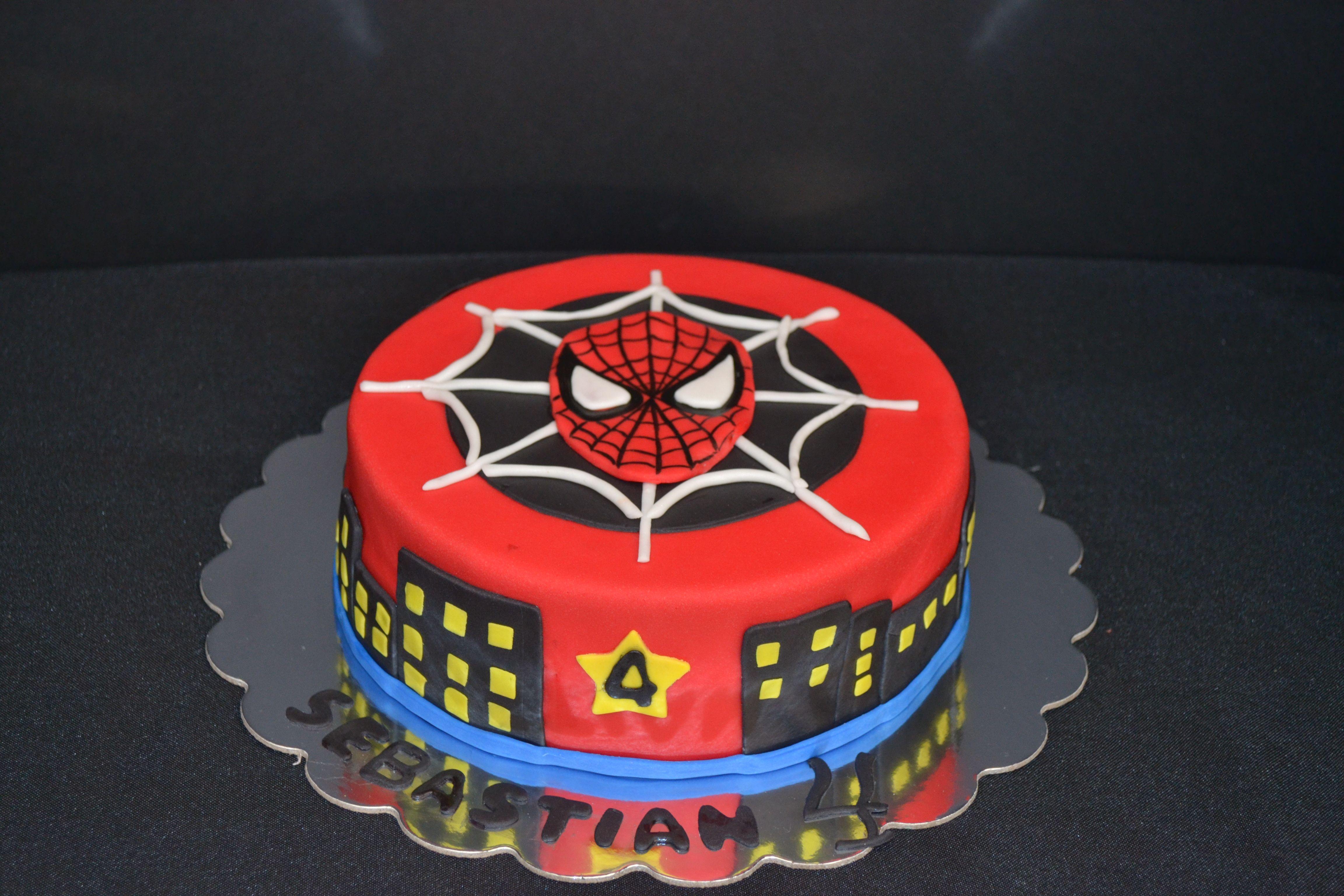 Spiderman Fondant Cake Birthday Cake Spider Man Spiderman design