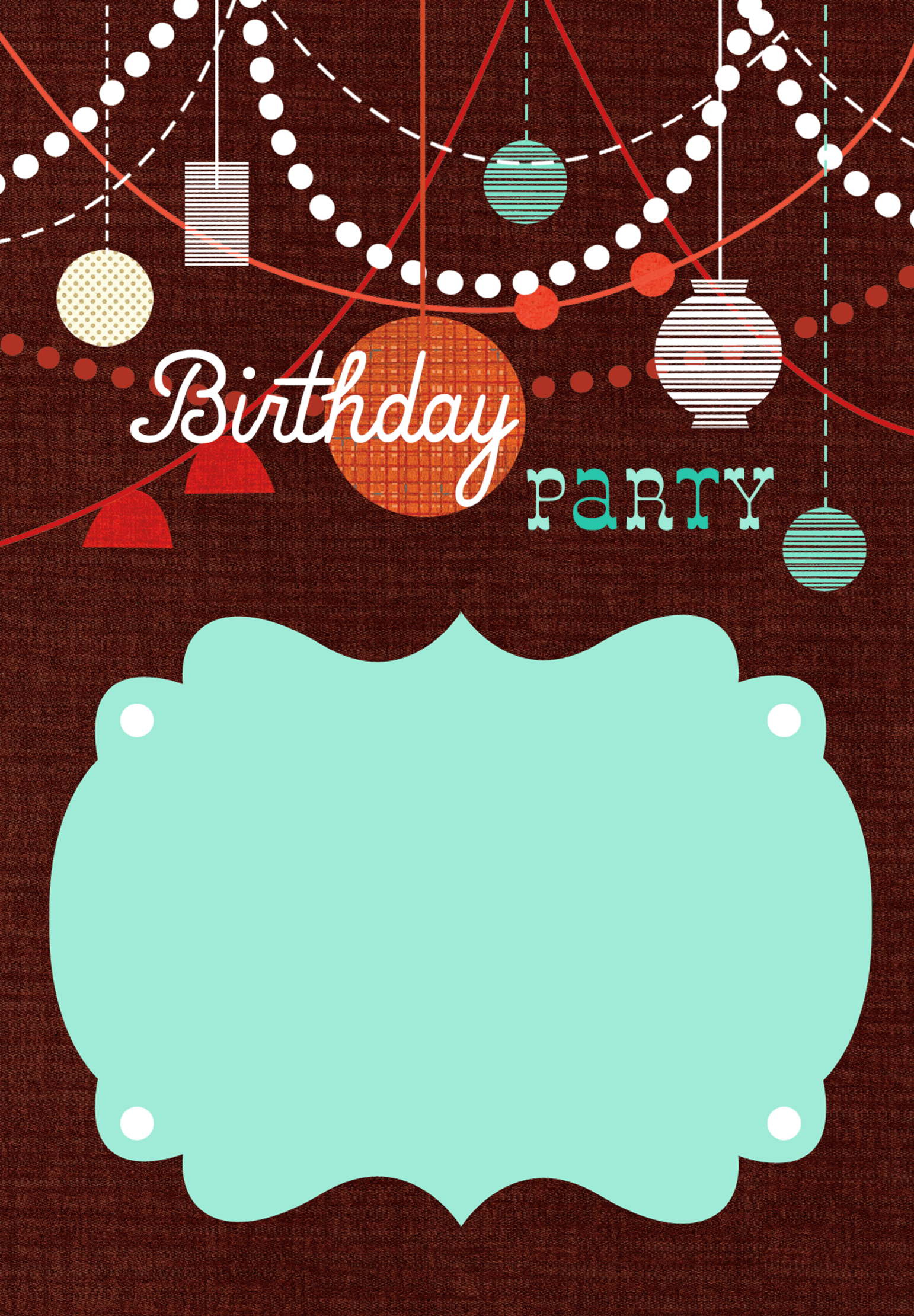 Birthday Decorations Free Printable Birthday Invitation Template - Retro birthday invitation template