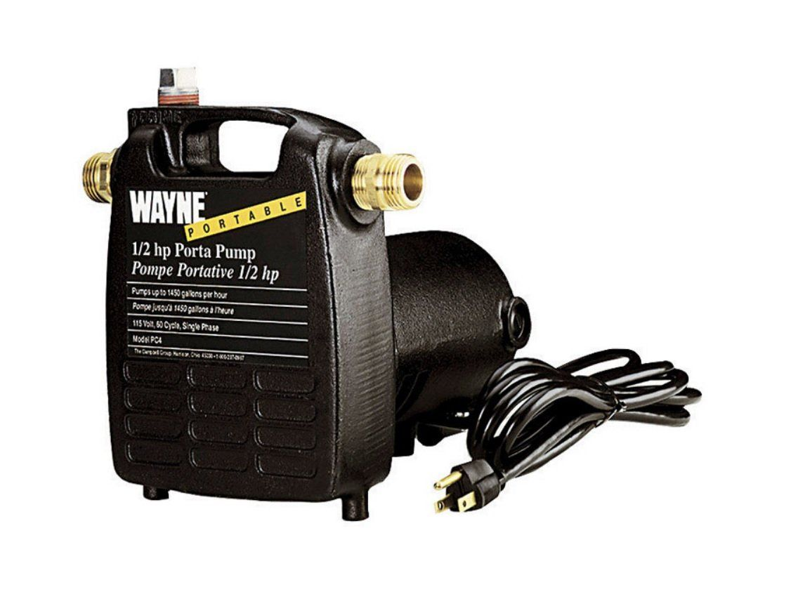 Wayne Pc4 Transfer Water Pump Cast Iron 1 2 Hp 115 Volt Sewer Pump Pumps Garden Hose