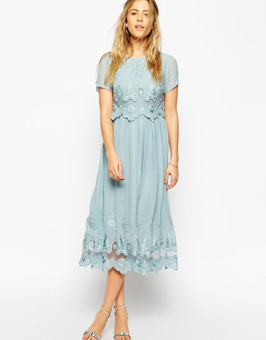 ASOS+Premium+Vintage+Dress+with+Double+Layer+and+Embroidery ...