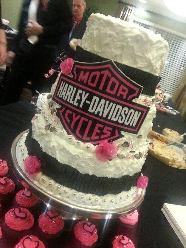 harley davidson wedding cakes | Pink harley davidson wedding cake ...