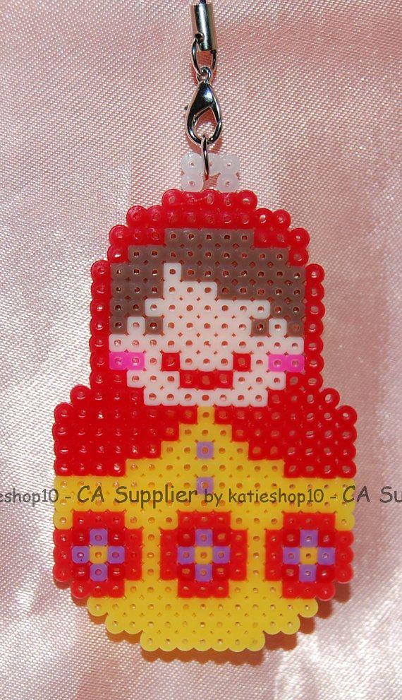 Russian Capacara Doll Figure perler beads by katieshop