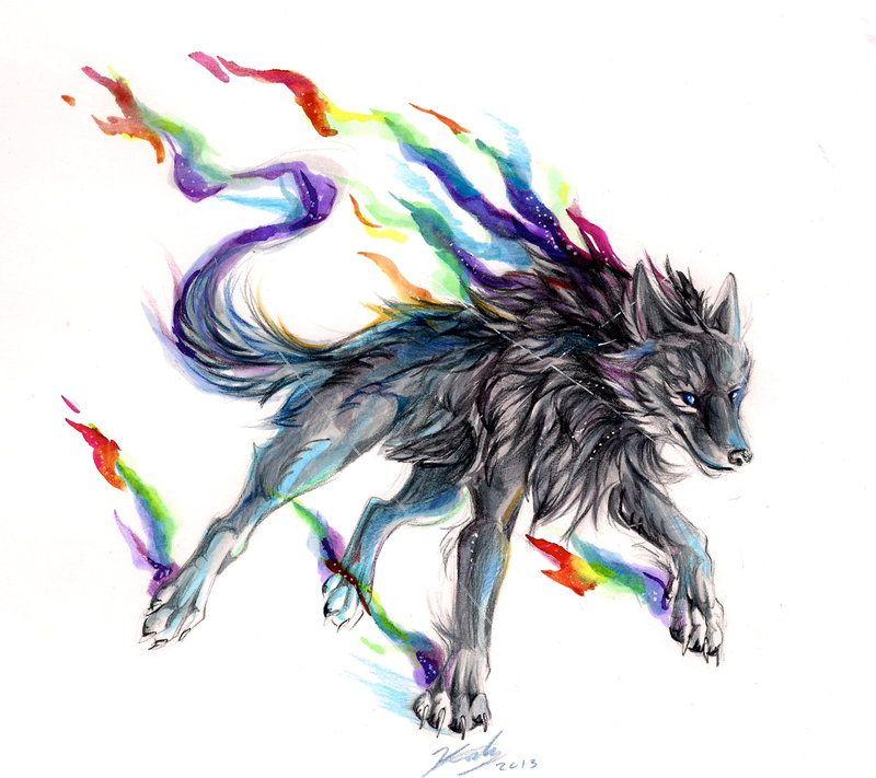 Black Rainbow Fire By Lucky978.deviantart.com On