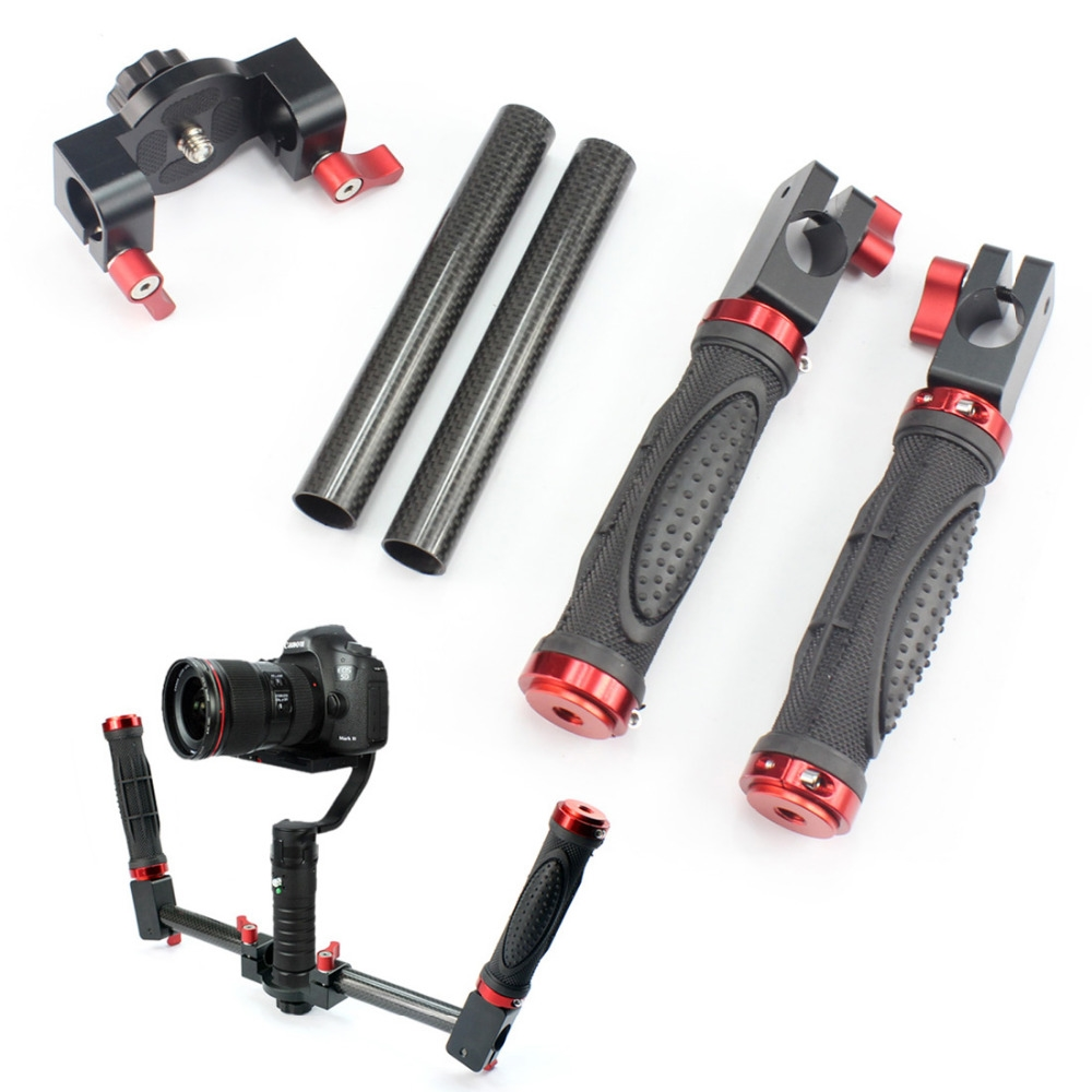 44.73$  Buy now - http://aliyda.shopchina.info/go.php?t=32686345962 - F17803 Steadymaker Carbon Fiber Dual Handle HandHeld Kit for DSLR Micro-Single Camera Mount Beholder DS1 MS1 SMG EVO Stabilizer 44.73$ #magazineonline