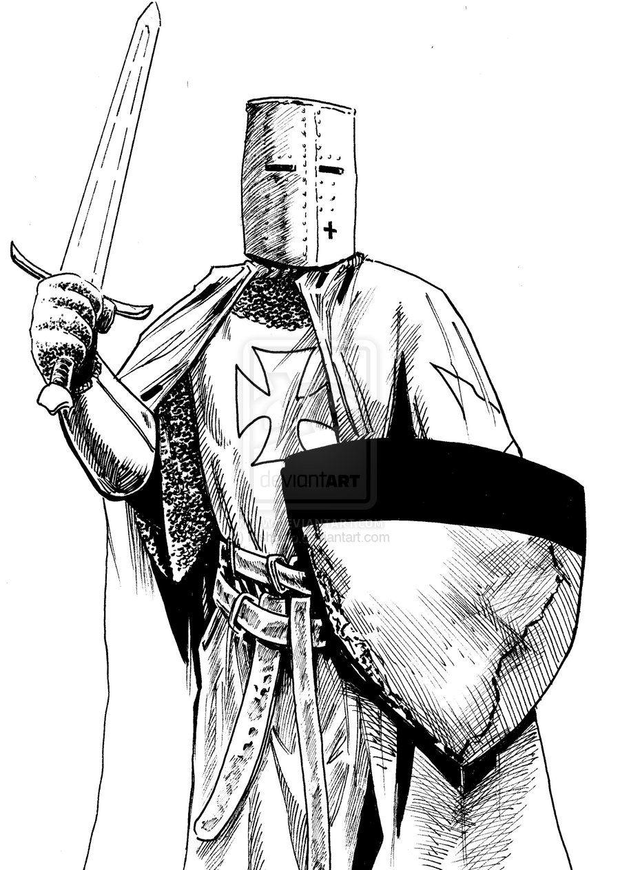 Medieval Knight Cartoon   Knight Templar 2 by mshoop on ...