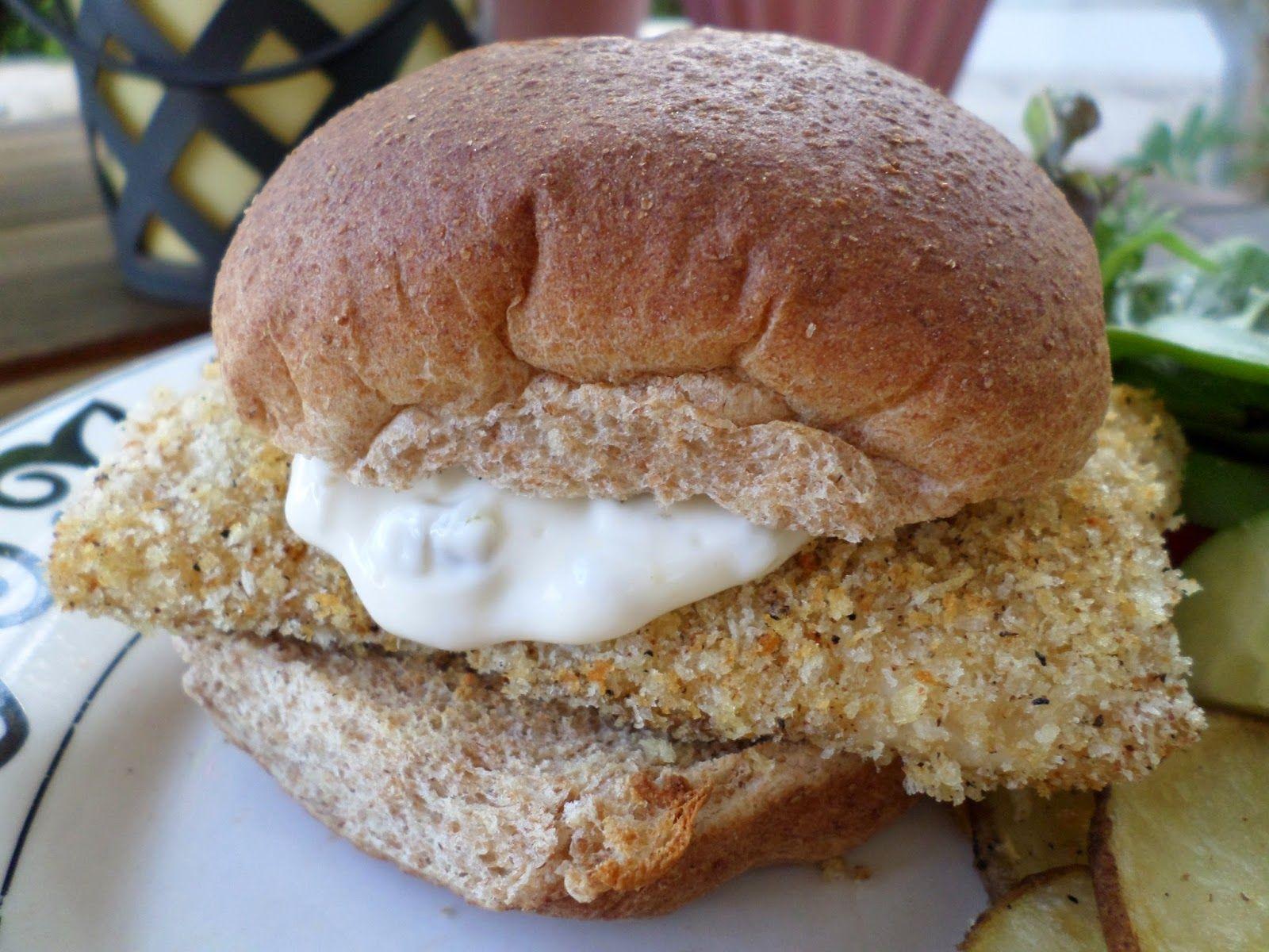 Spicy Crispy Fish Sandwich (with Jalapeno Mayo)
