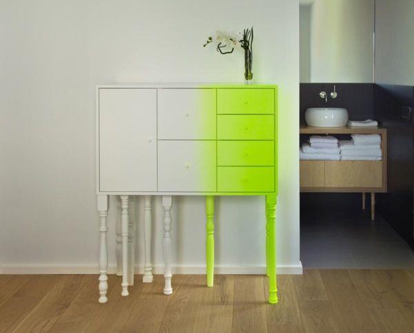 weißer Schrank mit Neon Farbe | I like | Pinterest | Neon