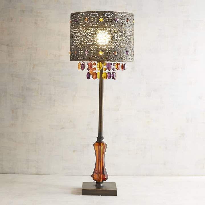Pier 1 Imports Bohemian Crystal Bronze Table Lamp   Bronze ...