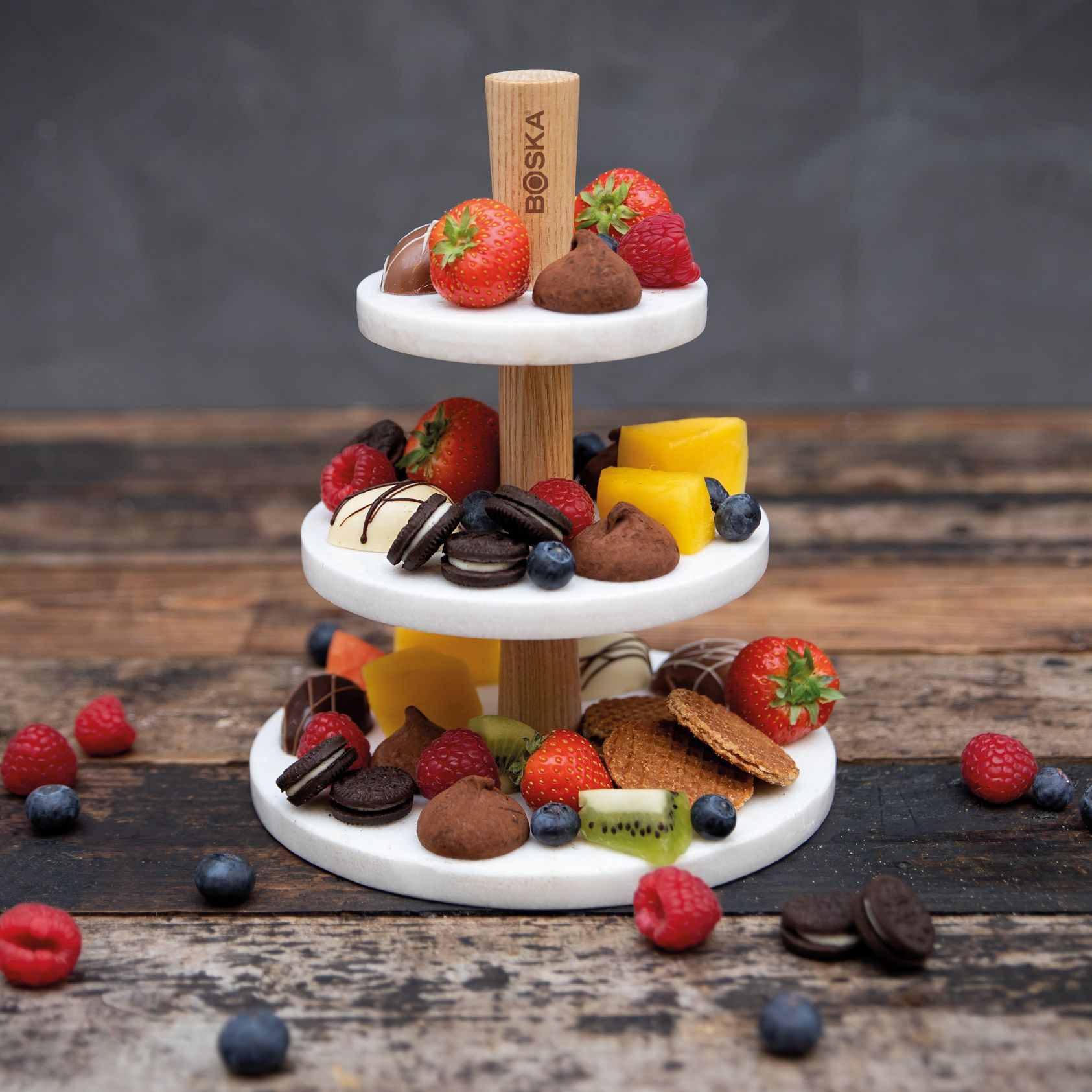 Choco Tower Tiered Serving Trays Savory Snacks Choco