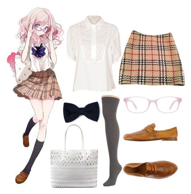 Anime Couture #3 | Kind of Mikan by vanillamikan on Polyvore featuring See by Chloé, Burberry, Hue, Rocco P., DKNY, Kam Dhillon and Zara