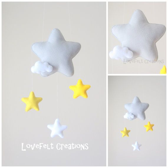 Baby mobile - Star mobile - Cloud Mobile - Baby Mobile Cloud Stars