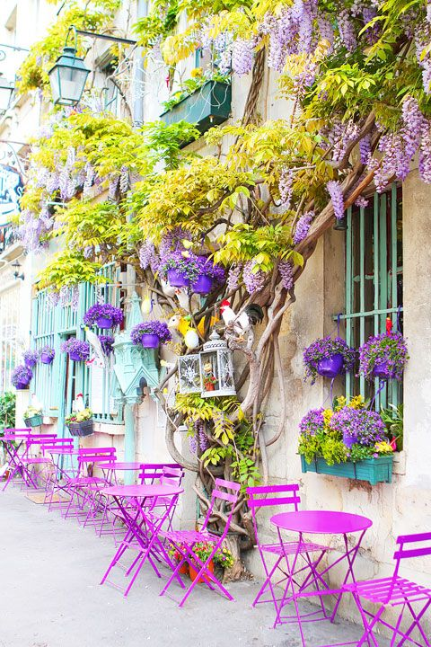colorful cafe