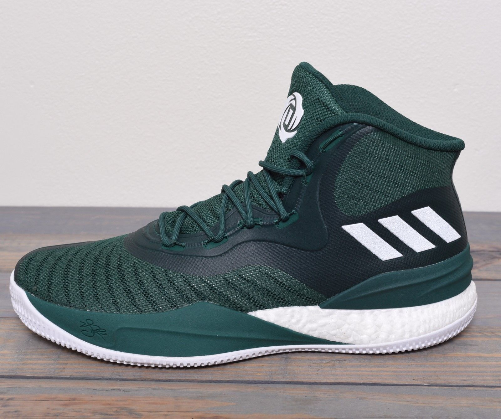 the latest f2751 393fa Adidas D Rose Basketball Shoes Men Size 12 Sneaker NBA Green White New  CQ1628