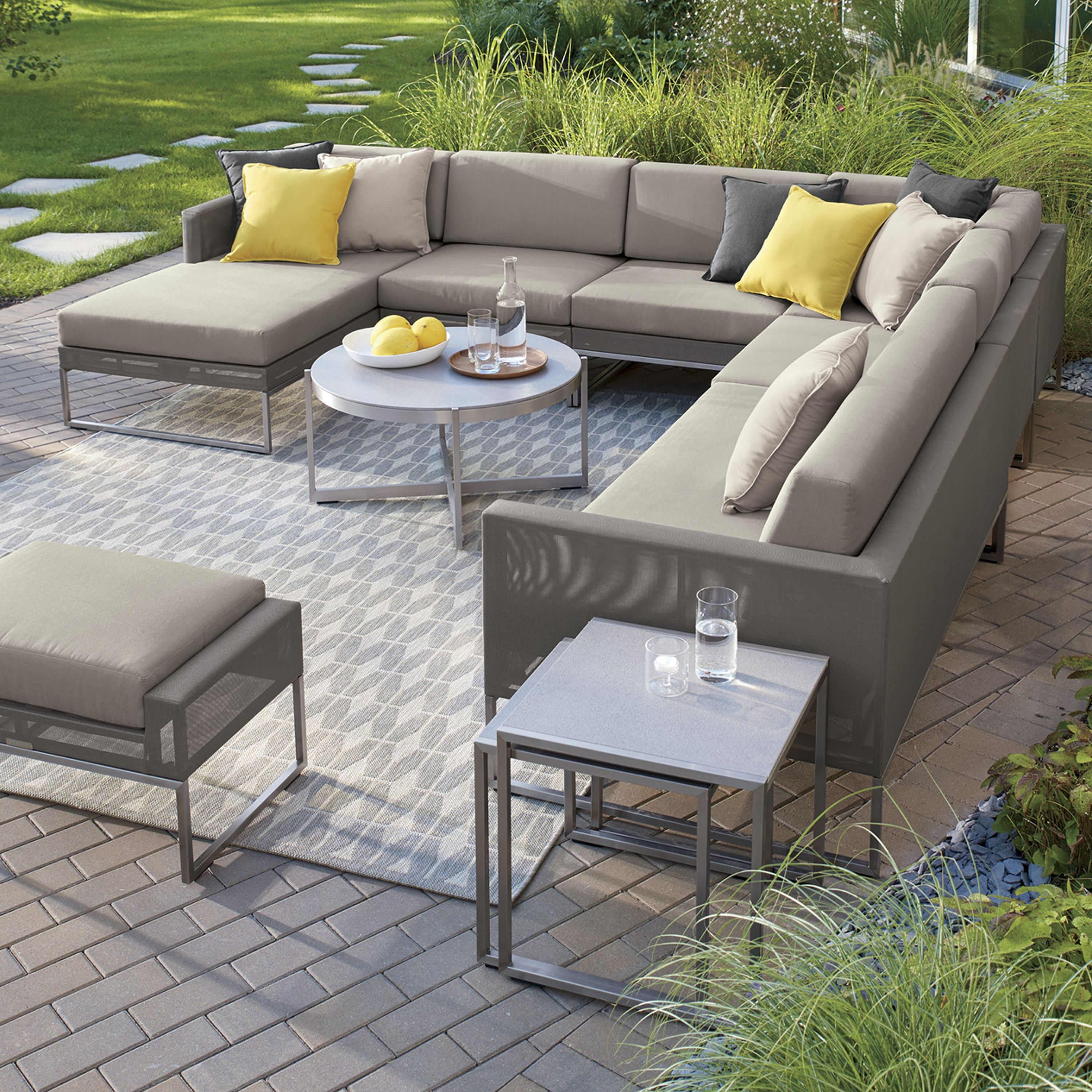 Genial Our Urban Style Dune Left Arm Chaise Truly Modern Indoor Furniture That  Lives Outdoors. A Sleek, Outdoor Grade Stainless Steel Frame Is Upholstered  In Taupe ...
