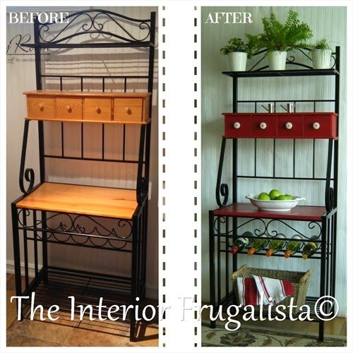 Metal And Wood Kitchen Baker S Rack Makeover With Images