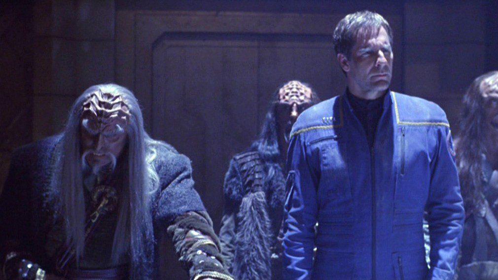 John G. Hertzler(Advocate Kolos) and  Scott Bakula (Cap. Archer) - Star Trek Enterprise : Judgment