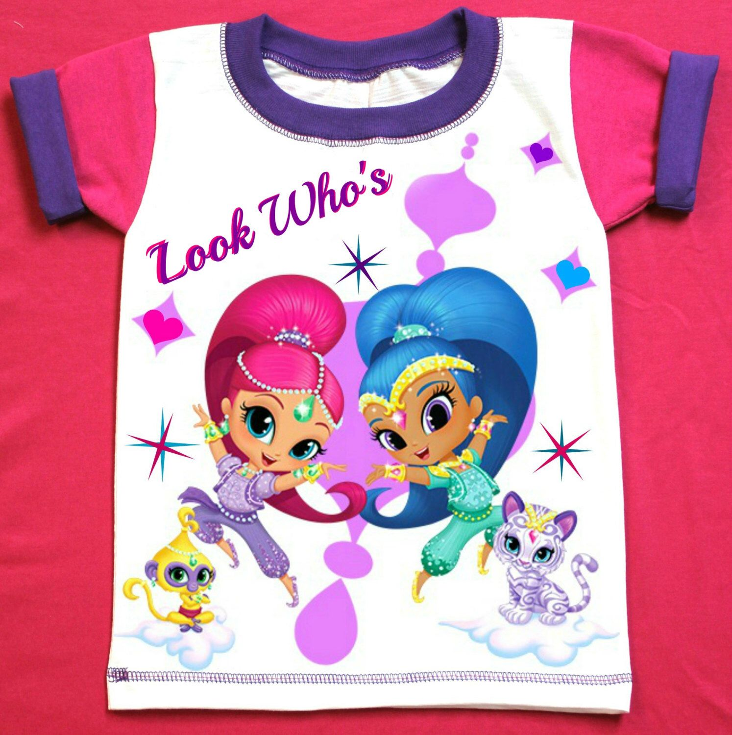 Shimmer and Shine  Birthday Girl Shirt Personalized with child name and age. by FantasyKidsParty on Etsy https://www.etsy.com/listing/478021893/shimmer-and-shine-birthday-girl-shirt