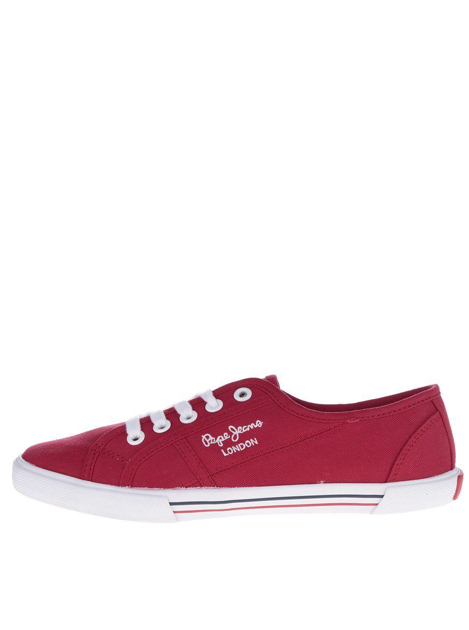 Červené dámské tenisky Pepe Jeans Aberlady Basic 1679 Kč  f0f749ef4b