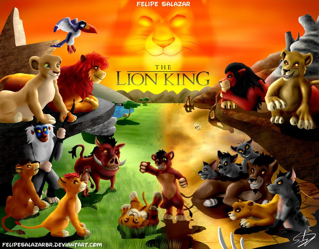 The Lion King The Pride Lands And The Outland By Felipesalazarbr Lion King Drawings Lion King Lion King Pictures The lion king 2 simbas pride wallpaper