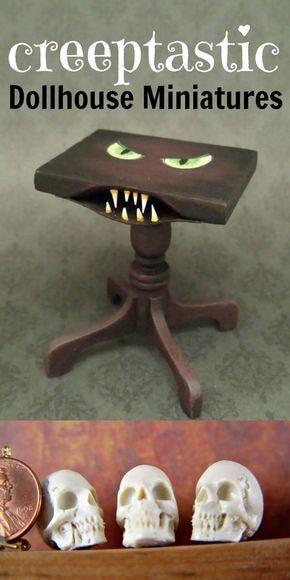 Shop by Category | eBay #haunteddollhouse Creepy dollhouse miniatures for haunted dollhouses or Halloween decorations