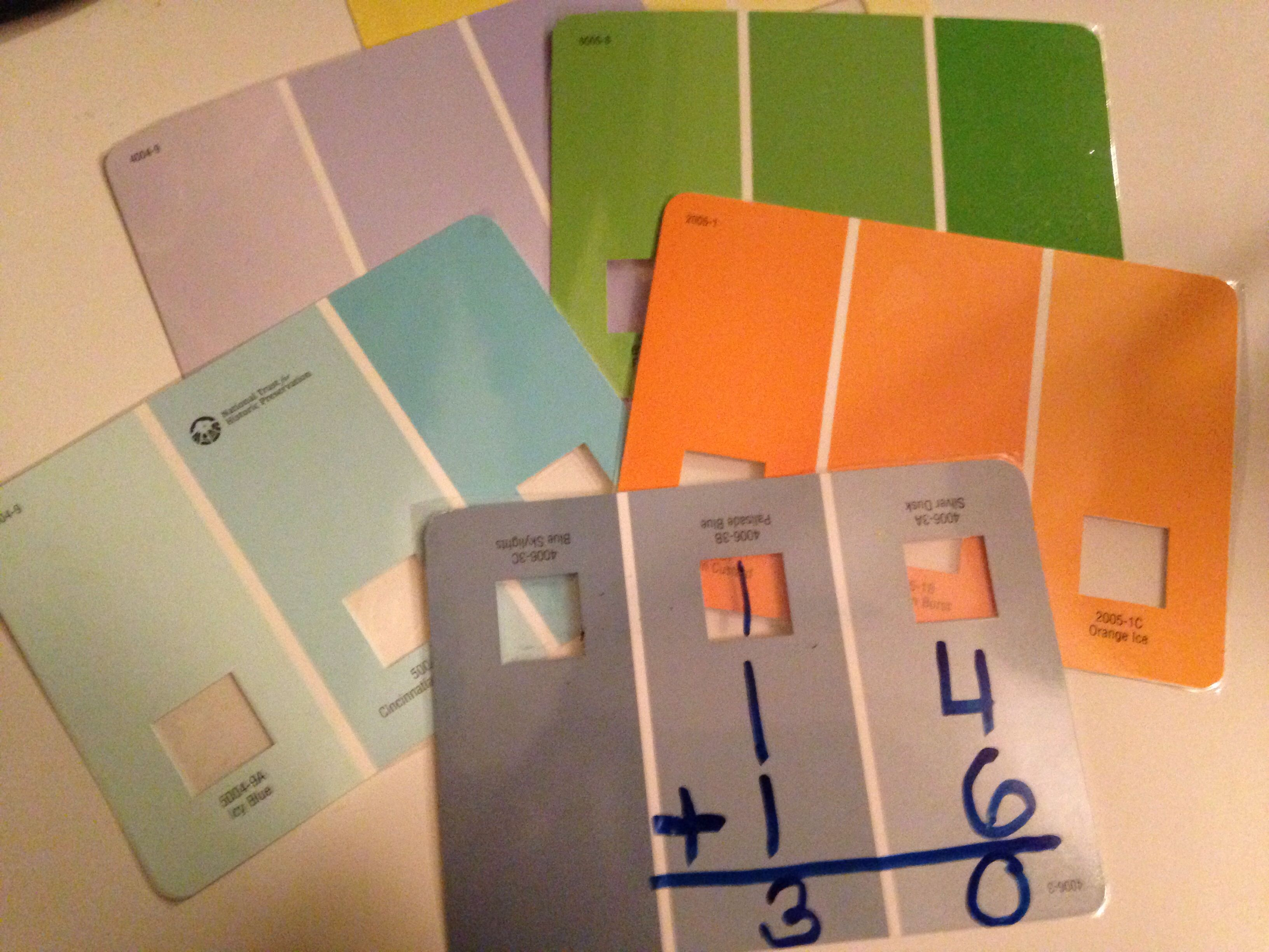 Use Paint Color Samples To Teach Double Digit Addition And