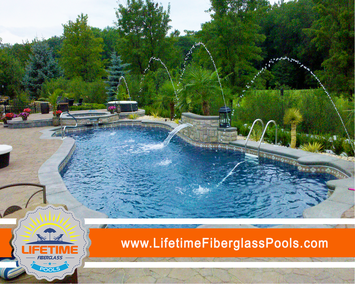 Lifetime Fibergl Pools Inground Swimming Spas Tanning Ledges With A Warranty