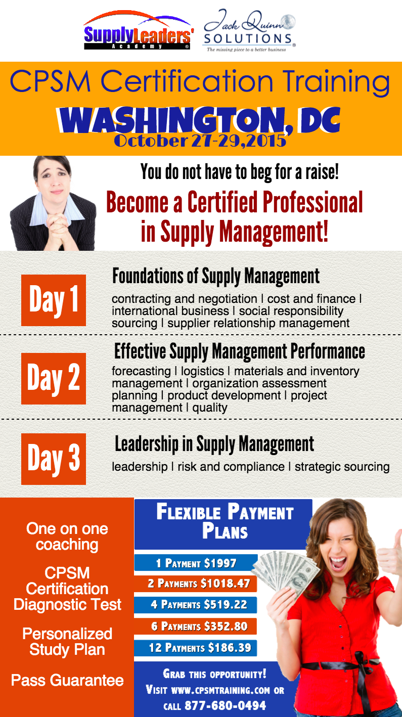 Intensify Your Skills In Supply Chain Management Cpsm