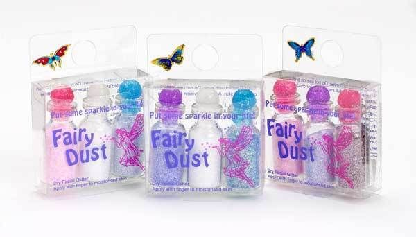 Fairy Dust gift set - 3 bottles(5ml each) -Assorted colours- facial/nail glitter
