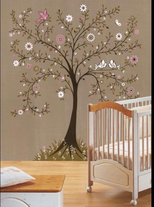 Love This Color Scheme And Mural Idea For A Little Girl