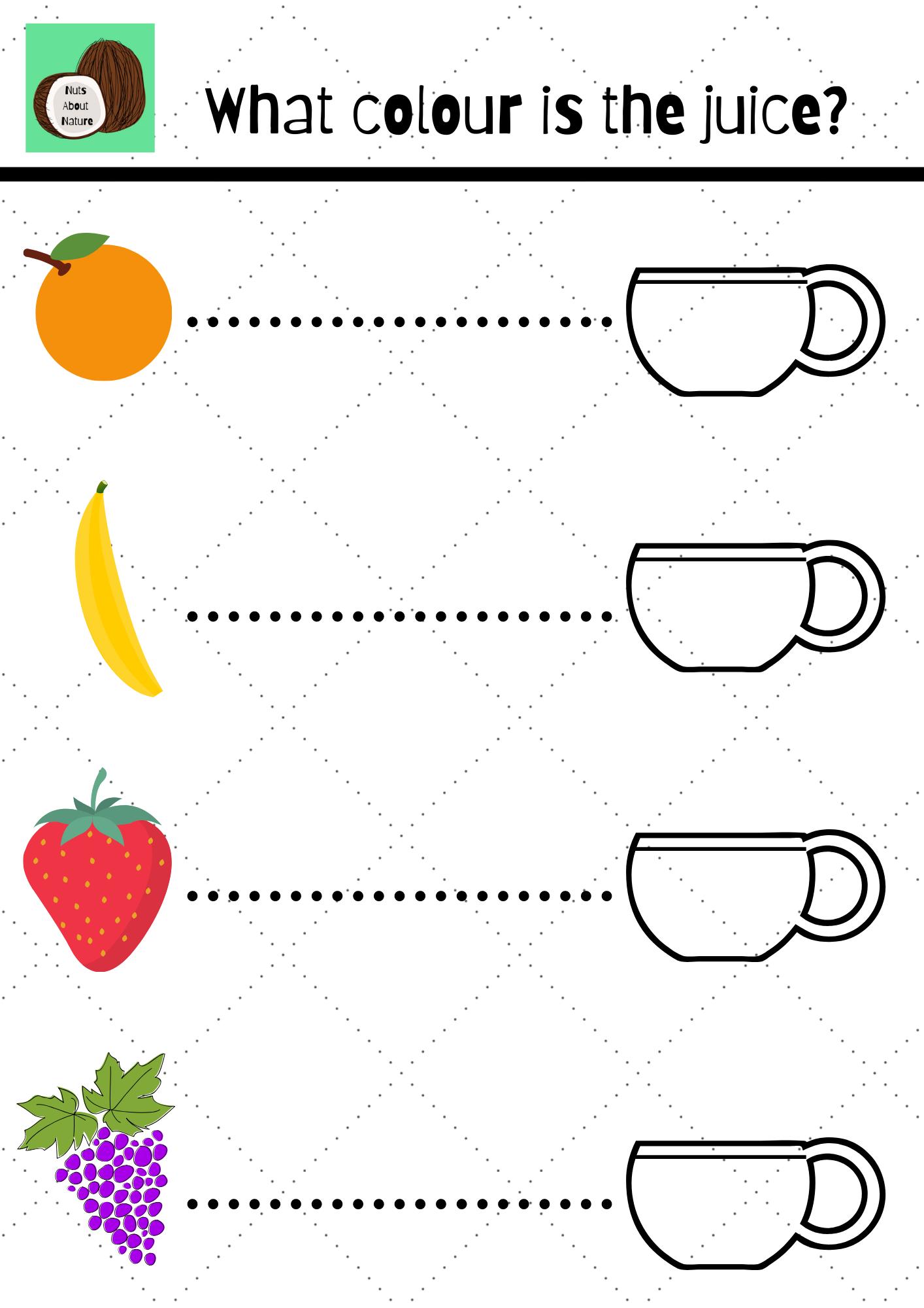 Fruit Juice Worksheet In