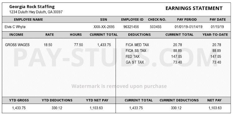 Create A Pay Stub Payroll Template Birth Certificate Template Payroll Checks