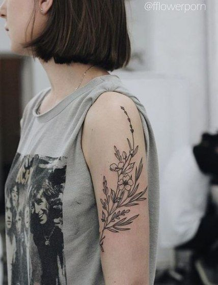 Trendy Tattoo Flower Arm Wildflowers Ideas -   17 plants Tattoo arm ideas