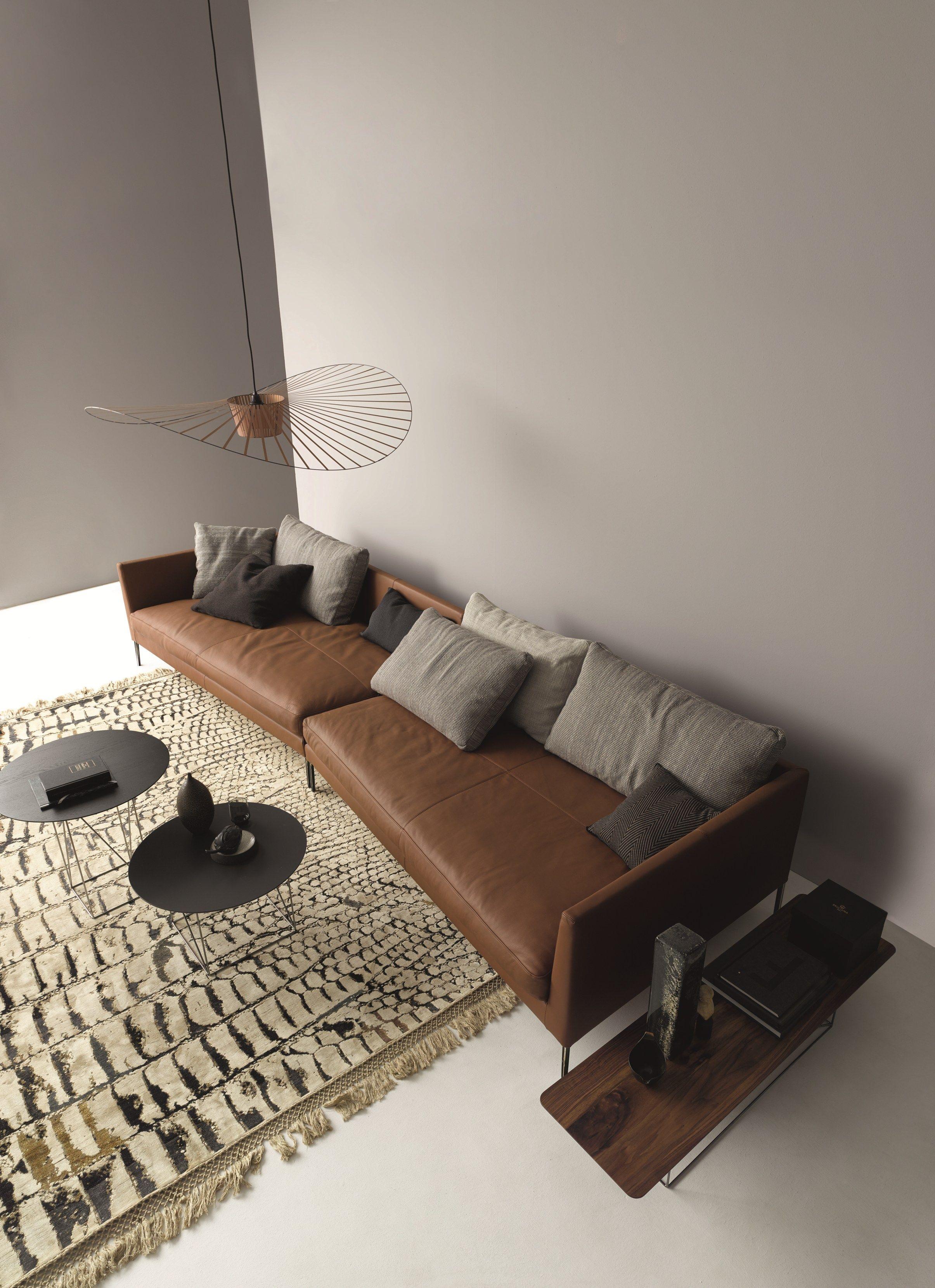PILOTIS Leather sofa Pilotis Collection by COR Sitzmöbel Helmut