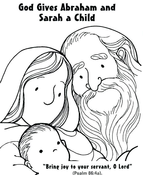 Abraham and Sarah Coloring Pages in 2020   Abraham and ...