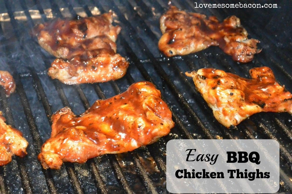 Quick And Easy Pellet Grilled Chicken Thighs - Love Me ...