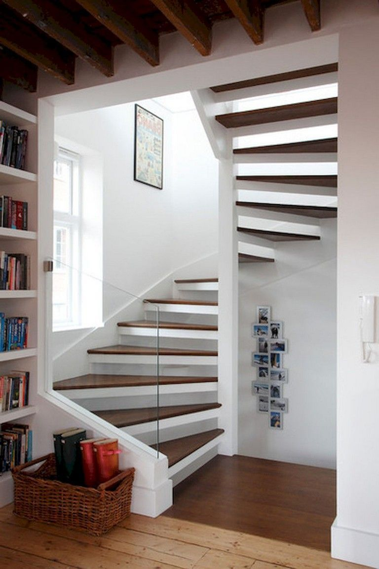 60 Awesome Loft Stair Ideas Small Room Staircase Stairrunner Staircasedesign Diningroomideas Stairs Design Tiny House Stairs Loft Staircase