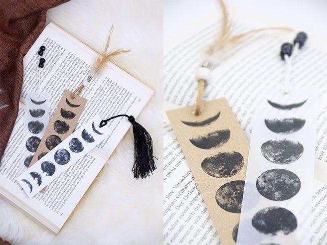 diy mondphasen lesezeichen zum ausdrucken free printable paper crafts. Black Bedroom Furniture Sets. Home Design Ideas