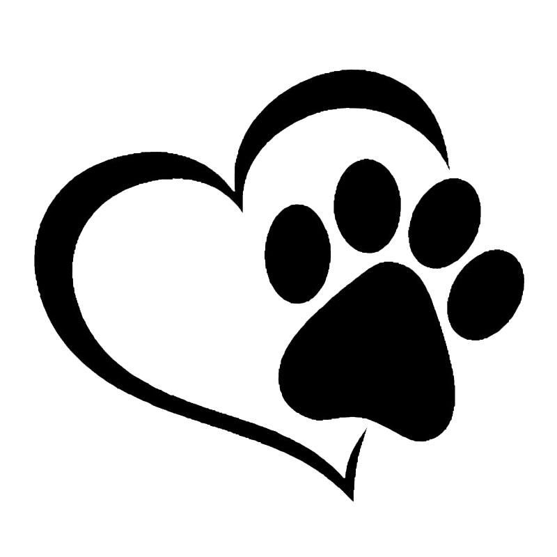 love heart with a dog paw print vinyl window decal pinterest rh pinterest co uk From a Dog Paw Prints Dog Paw Print Logo
