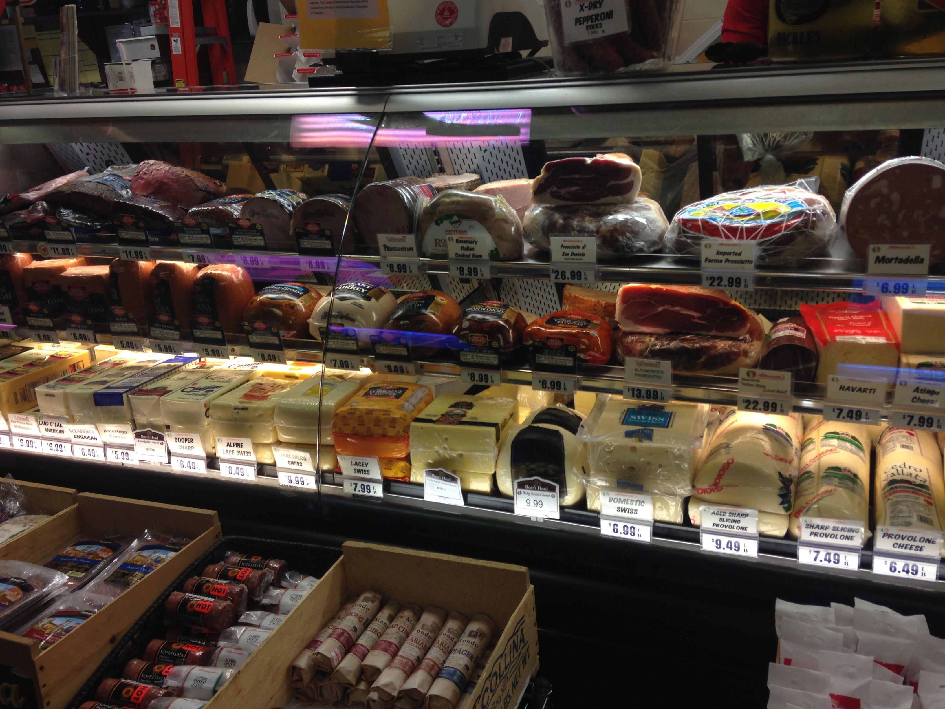 Deli meats at Altomonte's Italian Market