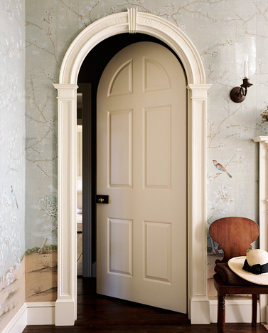 Gil Schafer Architectural Eye Candy Arch Doors And Wallpaper