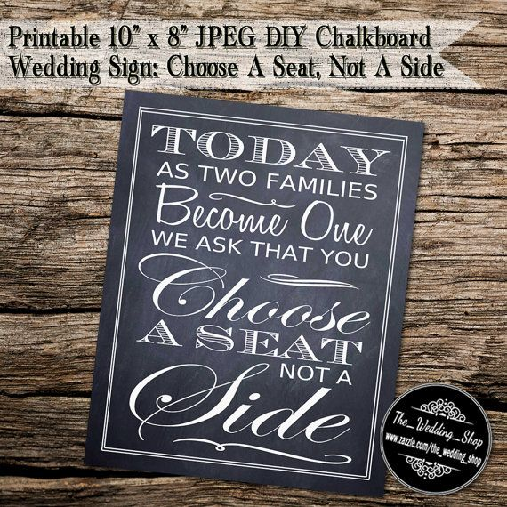 Instant Download Printable 8 X 10 Diy Chalkboard By Weddingshoptm