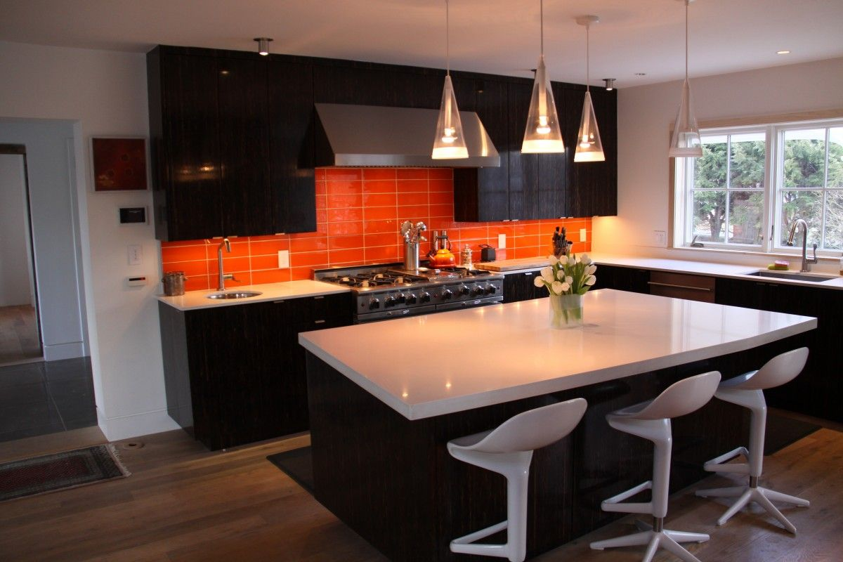 Black And Orange Kitchens Black Palm Kitchen Orange