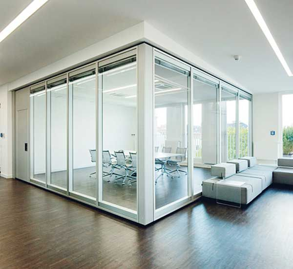 transparent glass acoustic insulation room dividers | favorite