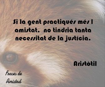 Frases de amistad en catalan de Aristòtil