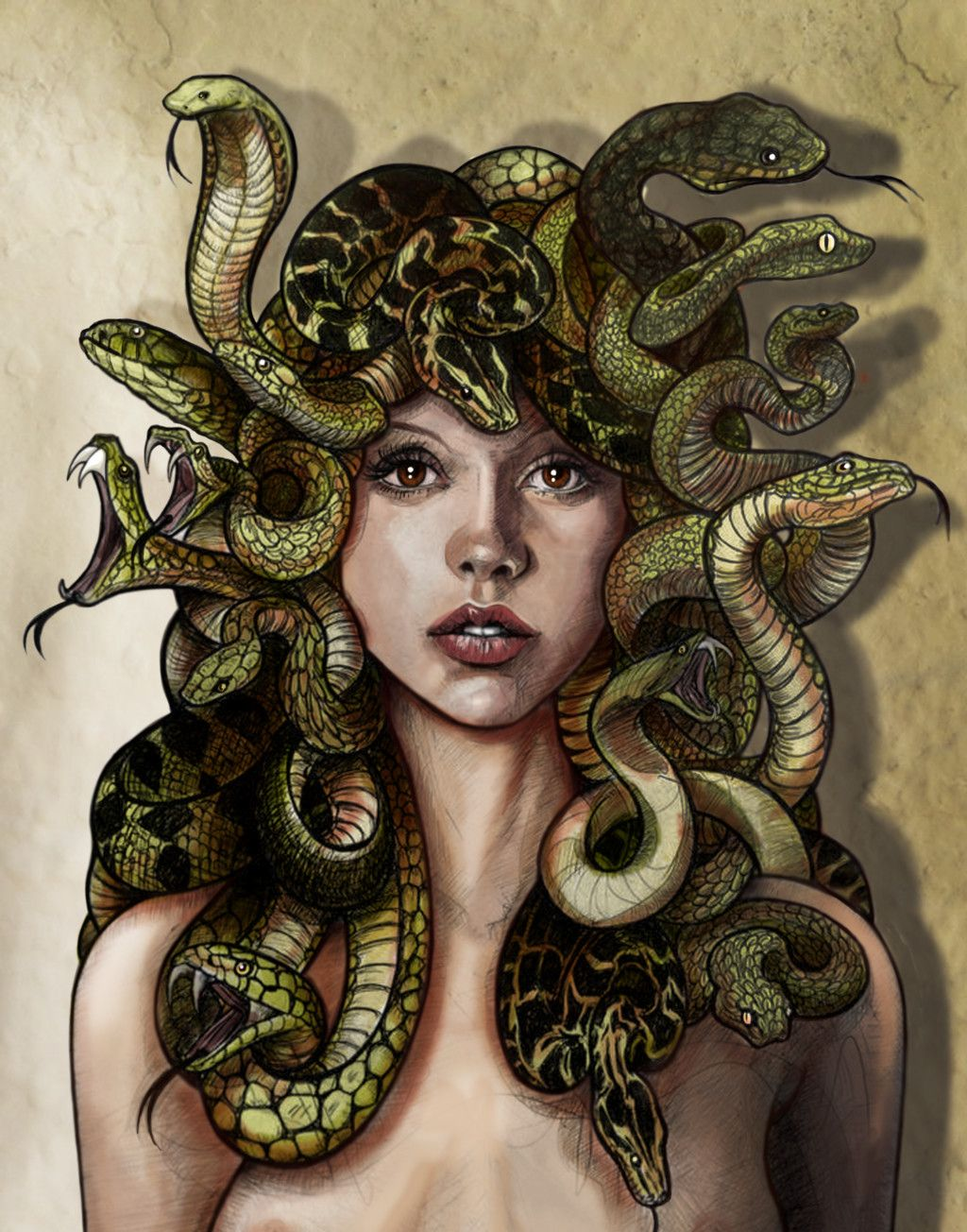 Medusa the Gorgon,, Rodrigo Cardoso on ArtStation at https ...