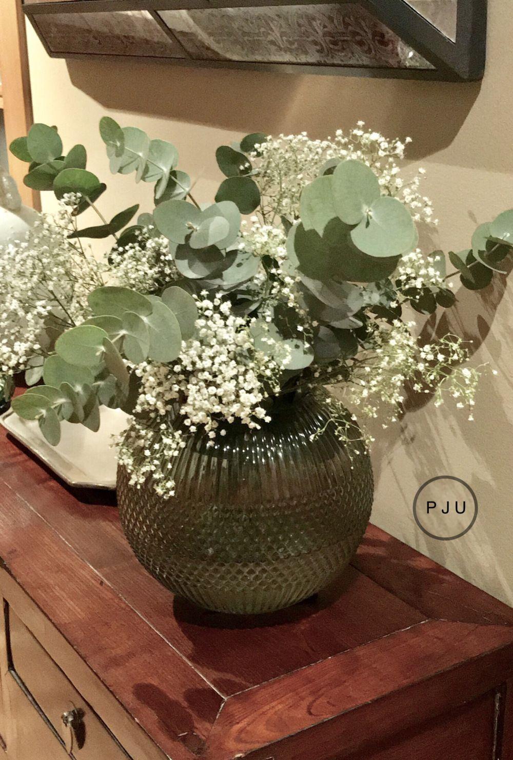 Arreglo Floral Con Eucalipto Casa Centros De Mesa De