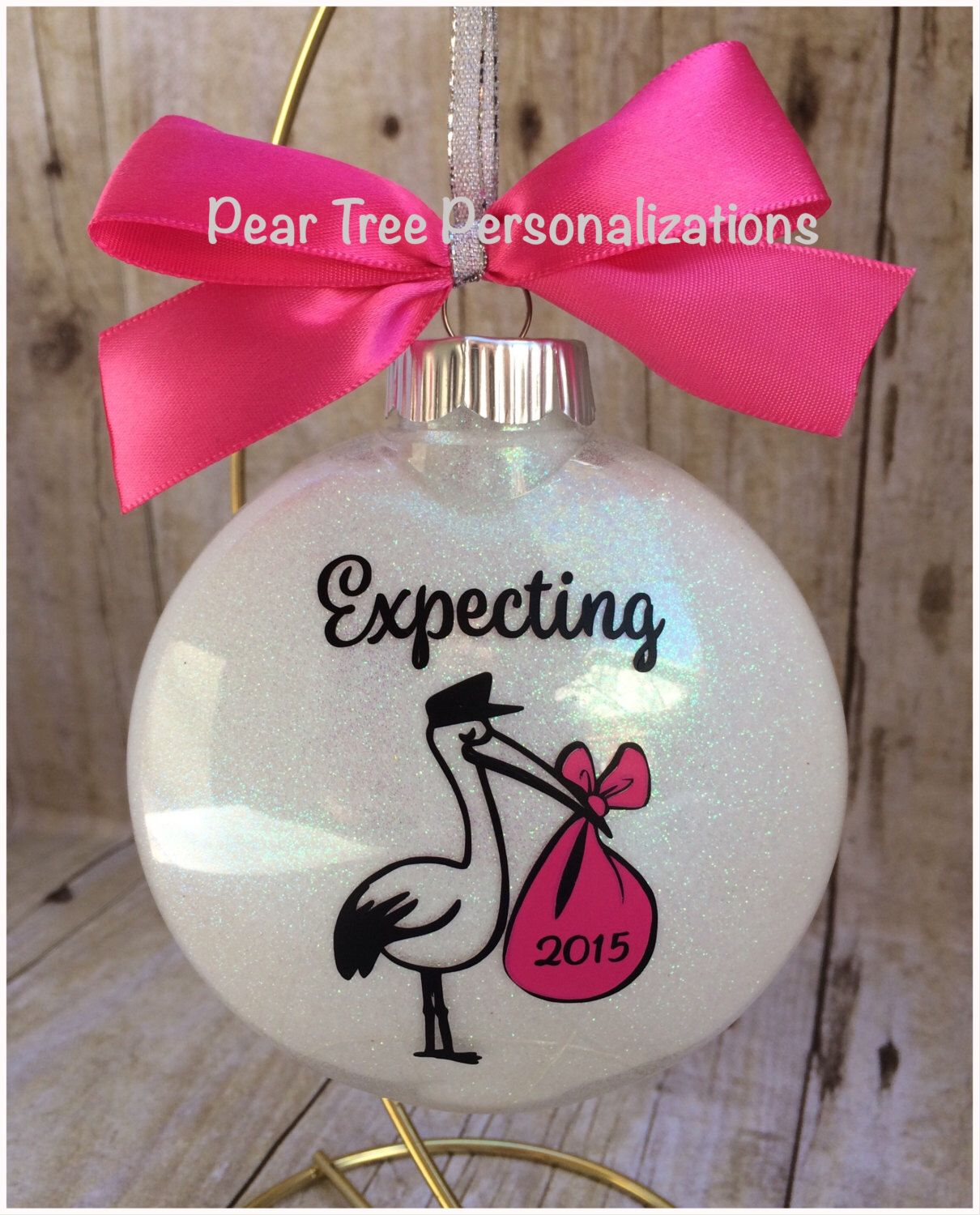Expecting Ornament, Were Expecting Christmas Ornament, Stork Ornament,  Expecting Baby Ornament, Pregnant