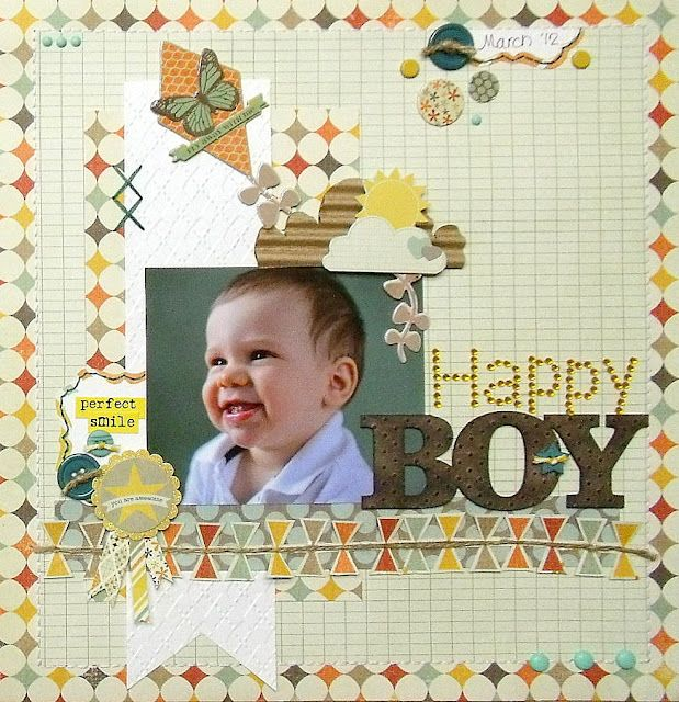 Scrap-Utopia: Happy Boy (Sunshiny Layout) Part 2