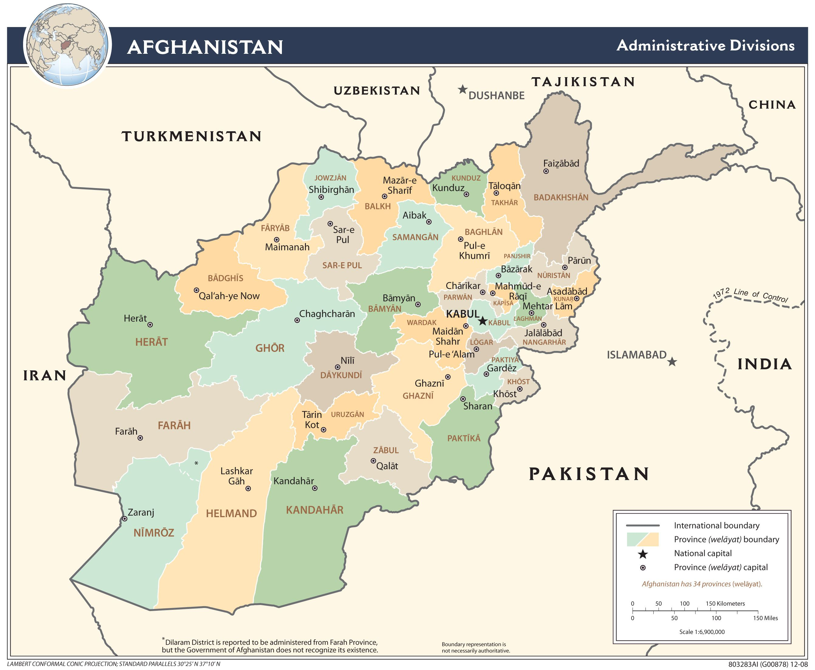 Afghanistan is located in Central Asia and its capital is Kabul. The ...